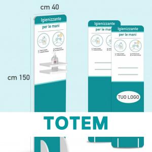 Disegno Tecnico Totem per Gel Igienizzante