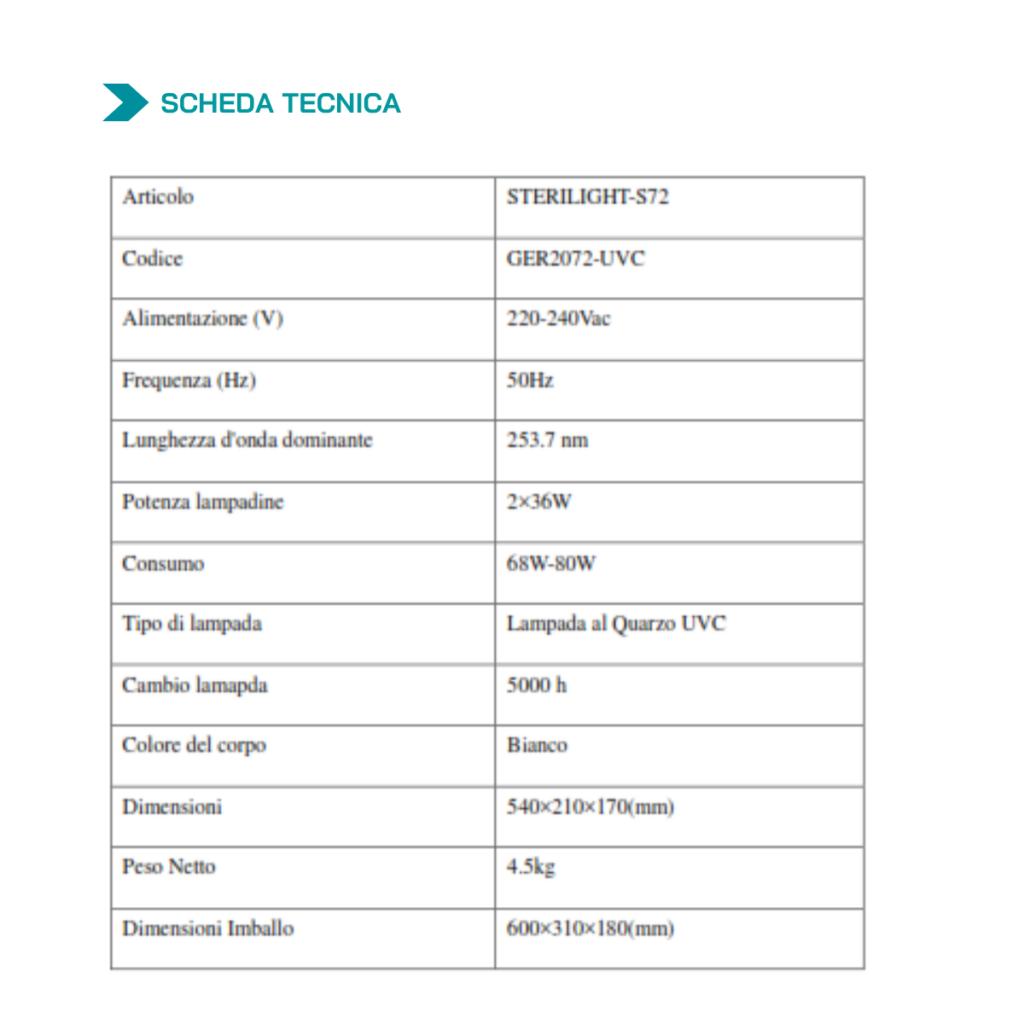 Scheda Tecnica Steri-Light