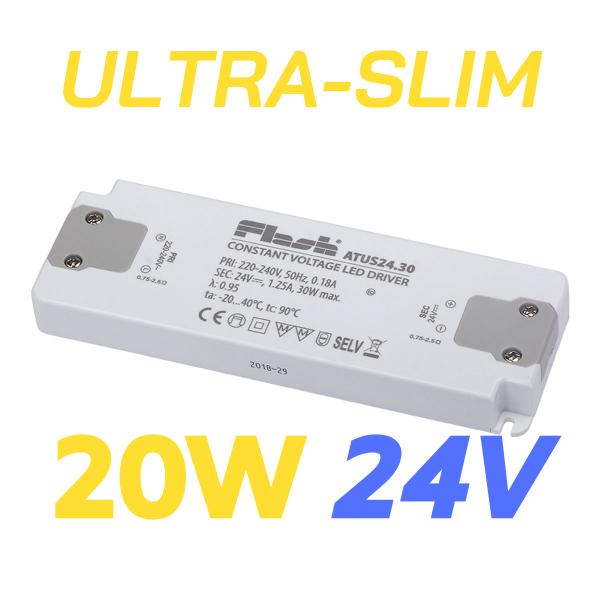 ALIMENTATORE STRIP LED ULTRA SLIM 20W 24V